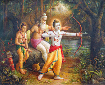Lord rama learning archery series based on the ramayana potdar lord rama learning archery freerunsca Choice Image