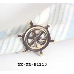 Nickel Nautical Wheel Napkin Ring, Polybag Packing, Size: Normal