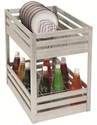 Aluminium Two Shelves Pull Out Basket