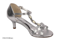 Silver Sandals With Stones