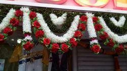White Plastic Entrance Decoration Flower Garlands