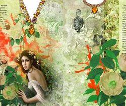 Digital Print Kaftan Fabric