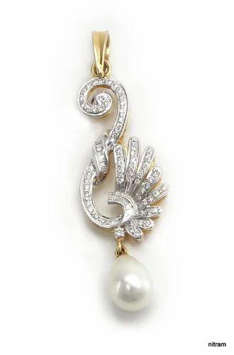 Designer pearl diamond pendant view specifications details of designer pearl diamond pendant aloadofball Choice Image