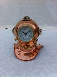Diving Helmet With Clock