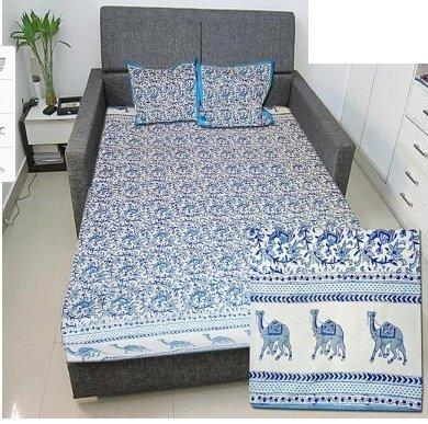 High Quality Double Bed Sheet In Block Print