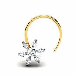 Gold Bride Nose Pin