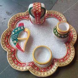 Flower Pooja Thali