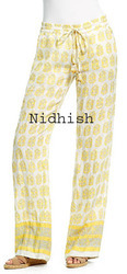 Block Printed Drawstring Ladies Pants