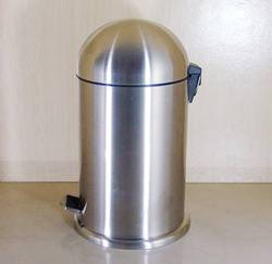 Push Can Stainless Steel Bin