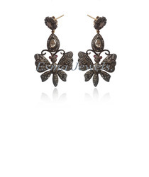 Butterfly Pave Diamond Earring