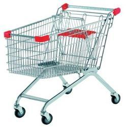 SOLUTIONS PACKAGINGT Stainless Steel Supermarket Shopping Trolley, Capacity: 110kg