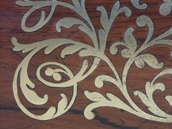 Brass Inlay In Wood