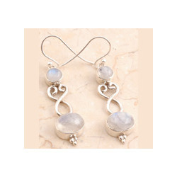 Rainbow Moon Stone Earrings