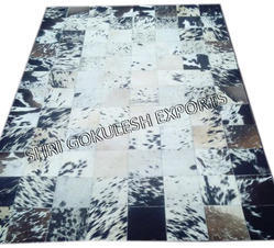 White and Black SGE Leather Hide Carpets