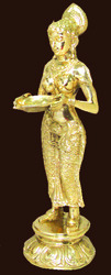 Brass Dancing Lady