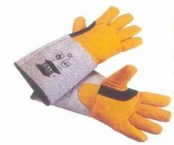 Aluminium Yellow TIG Professional Hand Gloves