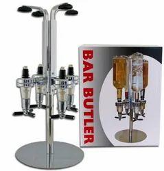 The Bar Butler Dispenser 4 Bottle Rotary