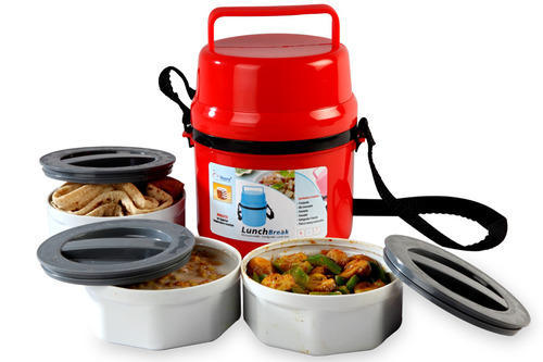Microwaveable Food Grade Lunch Bo And Container Colored Microwavable Pack Exporter From New Delhi