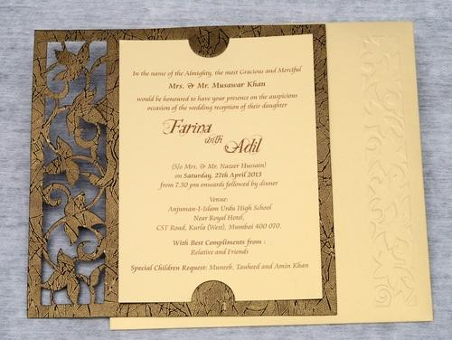 Single sheet invitation cards single invitation cards exporter scroll wedding cards stopboris Gallery