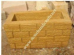 Teak Sand Stone Planter