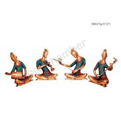 Brass Statue Musical Set Of 4