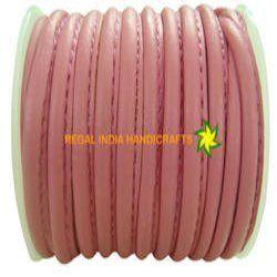 Stitched Round Genuine Nappa Leather Cords