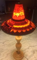 Lady With A Hat Wooden Floor Lamp