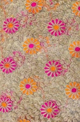 Net Fabric With Resham Embroidery K0104013 Athome Multimedia