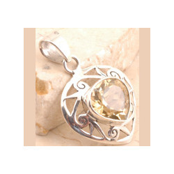 Citrine Pendent in 925 Sterling Silver