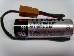 Toshiba Er17500 3.6v Lithium Battery Brown Fanuc Connector