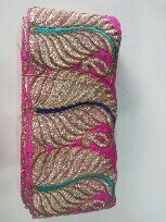 Jute fabric with kanchipuram boder specially uses for sarees , croptops, leangas