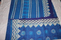Casual Wear Discharge Print Cotton Sarees, 5.2 M (separate Blouse Piece)