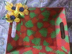 Serving Paper Mache Decorative Tray