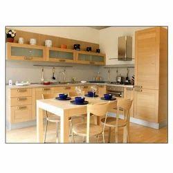 Chilliez Brown Wooden Kitchen Cabinets