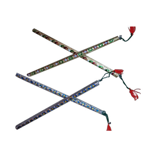 Wooden Dandiya Stick, Size/Dimension: 14'