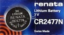 CR 2477 N Renata 3v lithium battery
