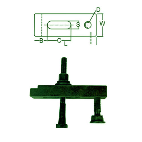 Mould Clamps Mould Clamp With T Bolt Flanged Nut