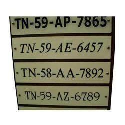 Engraved Number Plates