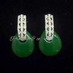 American Diamond Earring Tops