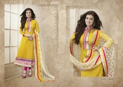 Designer chanderi banaras silk suits with heavy designer dupatta ...