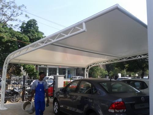 Membrane Tensile Structures Car Parking Shed At Rs 400