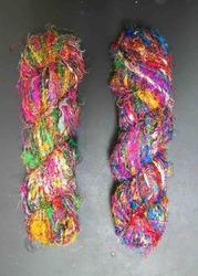 conifer Multicolored Sari Silk Yarns In Assorted Colors, For Knitting, Packaging Size: 100