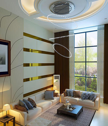 Modern Home Designs From Interior Decorators In Noida  C2NyYXBlLTEtRzRDVGZ4: Living Area Interior Design In Sector 108, Noida