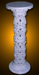 Carved Marble Stone Pillar