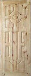 Solid Pine Wood Panel Moulded  Door