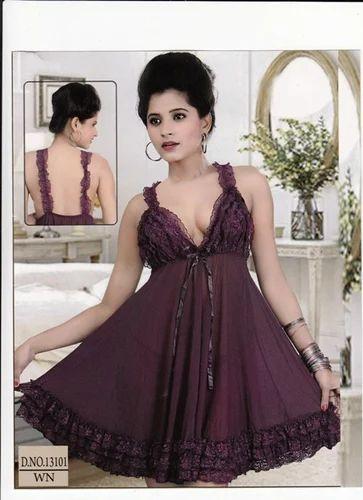 fe8de40443 Fancy Room Nighty - View Specifications   Details of Ladies Night ...