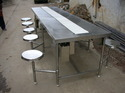 Stainless Steel Packing Conveyor With Stool