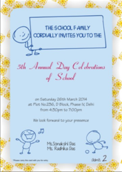 Annual Day Invitation Card
