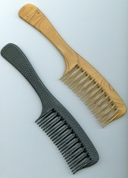 Brown And Grey Plastic Comb