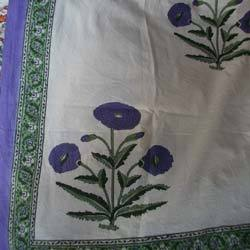 Flower Block Printed Bed Sheet
